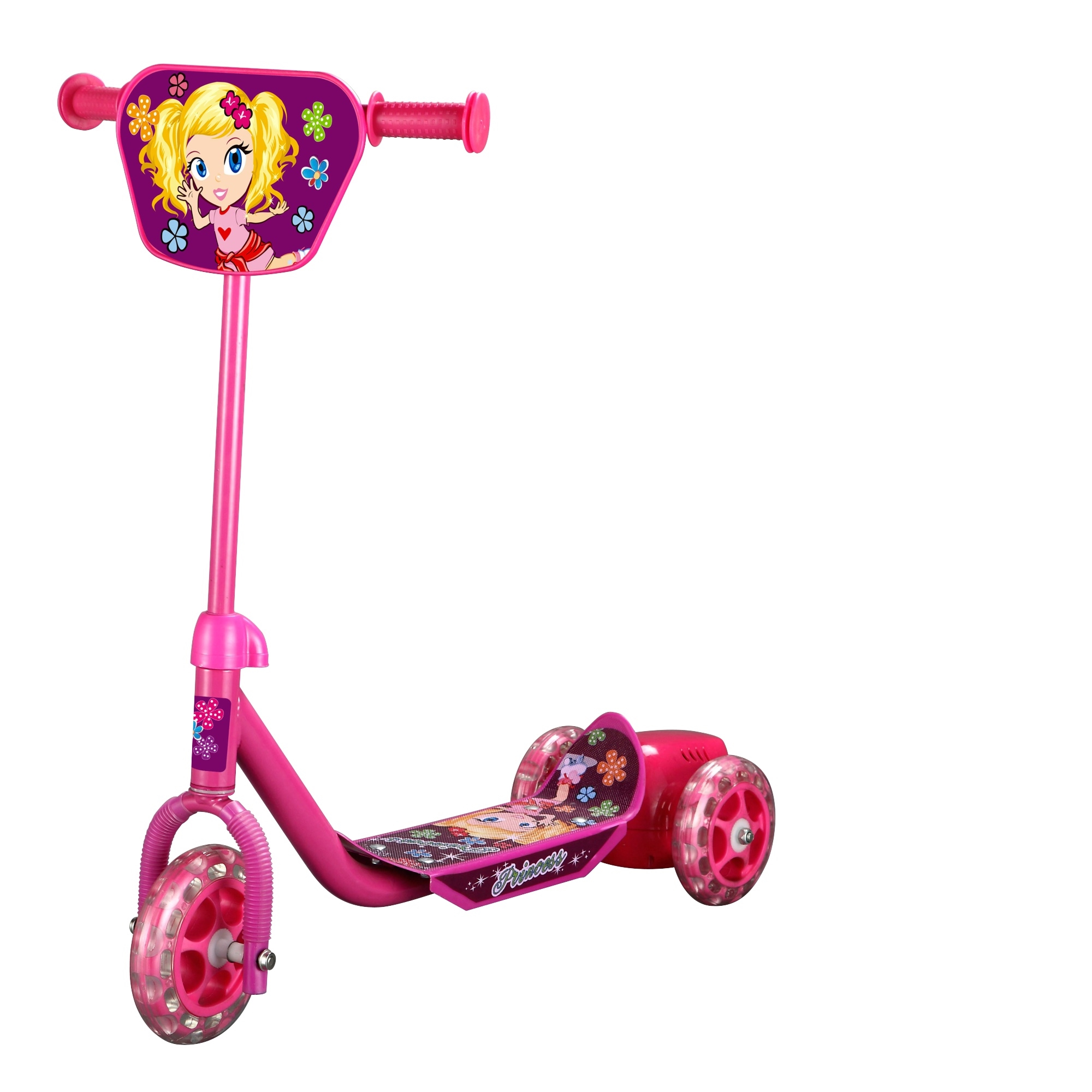 Pink Bubble Tri Scooter