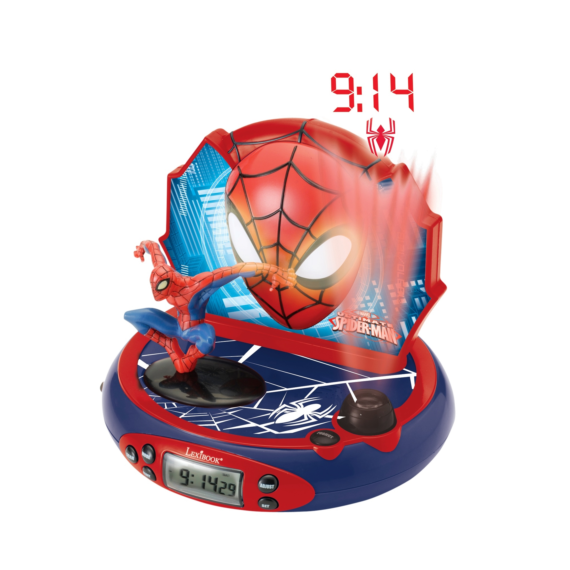 SpiderMan Projector Radio Alarm Clock
