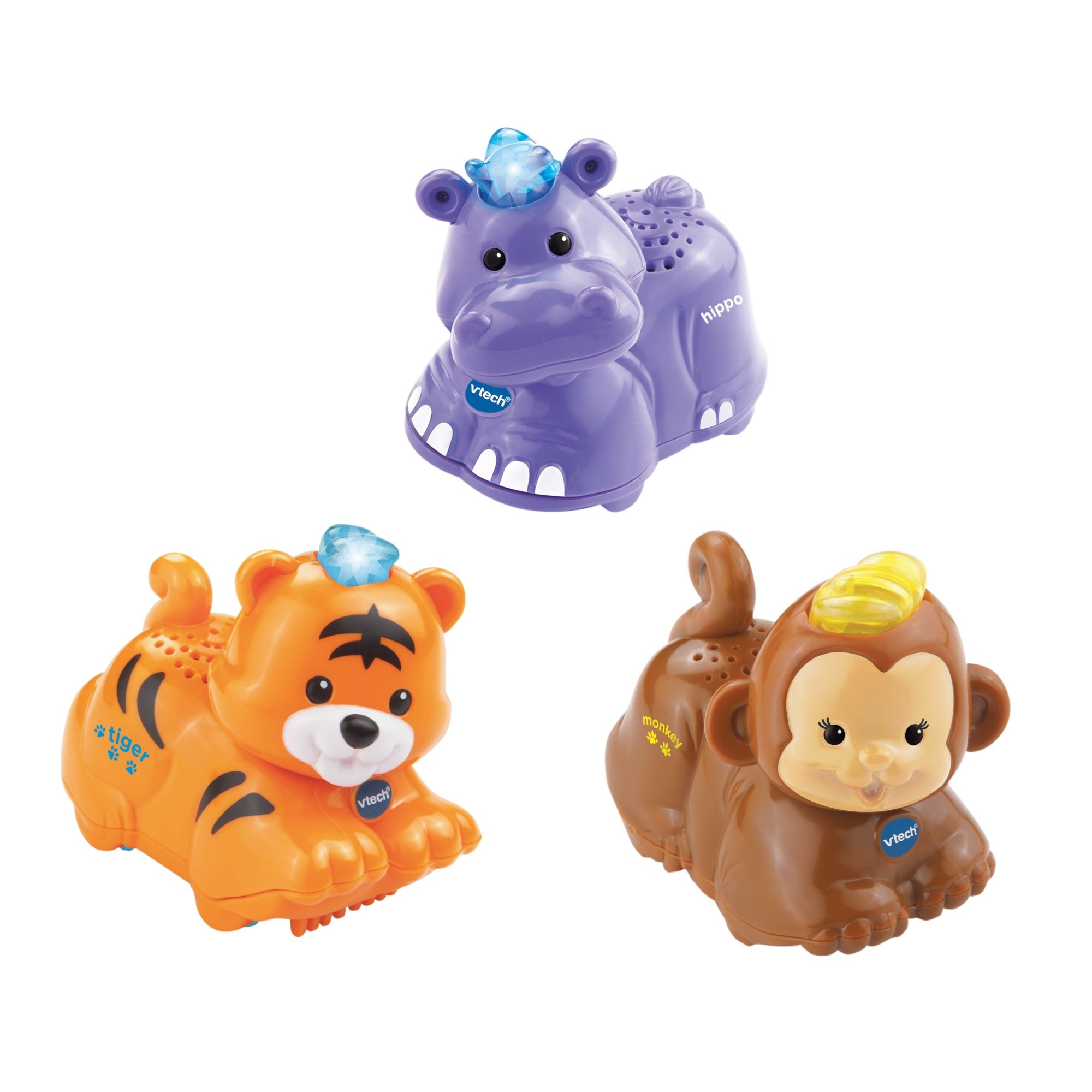 VTech Toot Toot Animals Tiger Hippo Monkey
