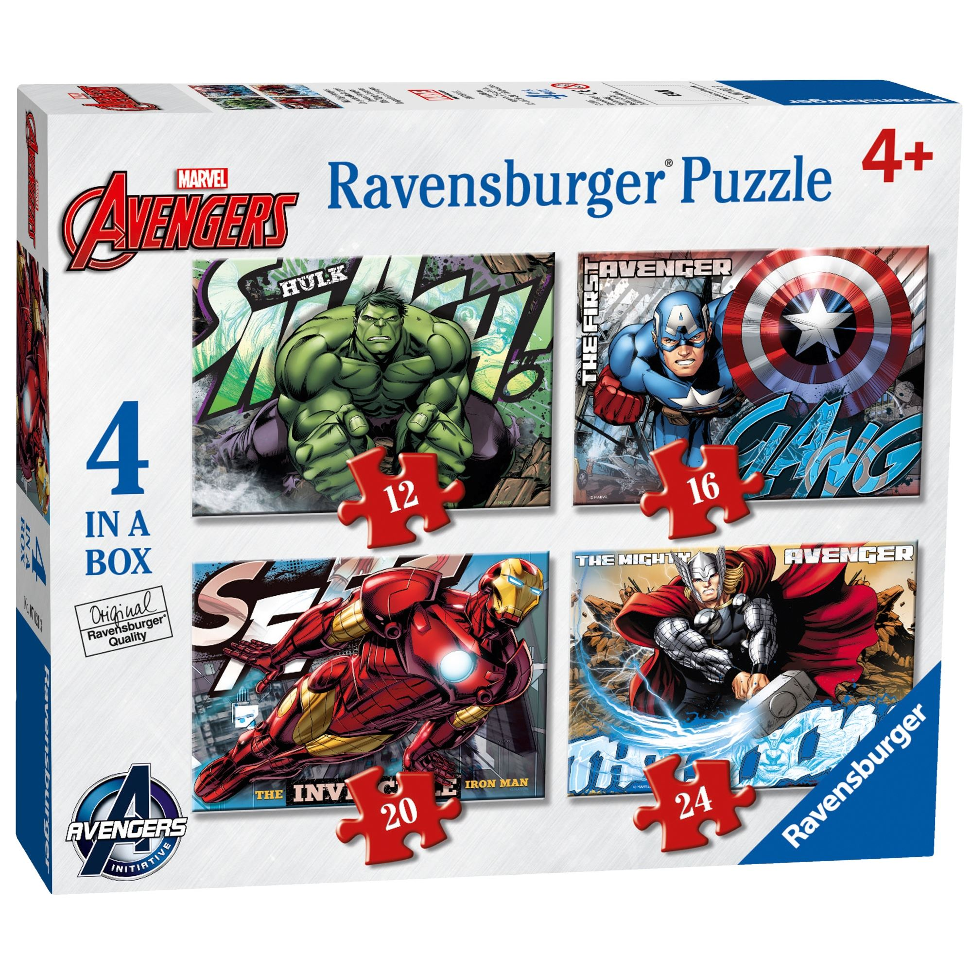 Ravensburger Marvel Avengers Assemble 4 in a Box Jigsaw